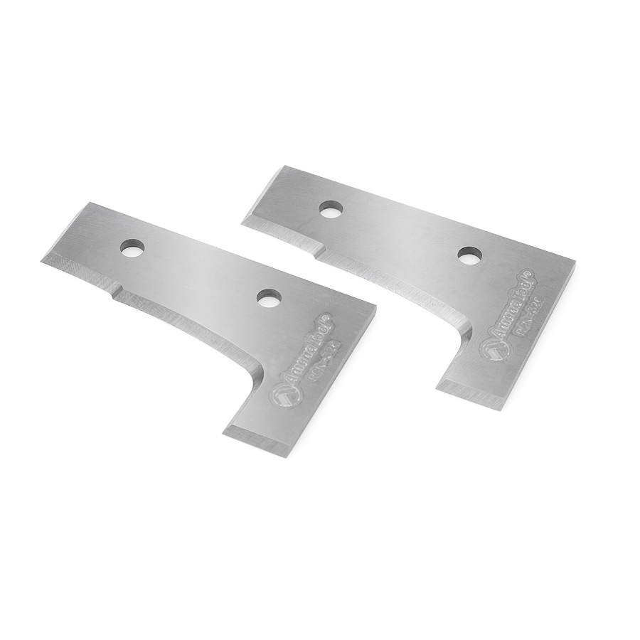 RCK-326 Pair of CNC Insert Knives 56.7 x 35 x 2mm for 3-Flute Multi-Profile RC-4080