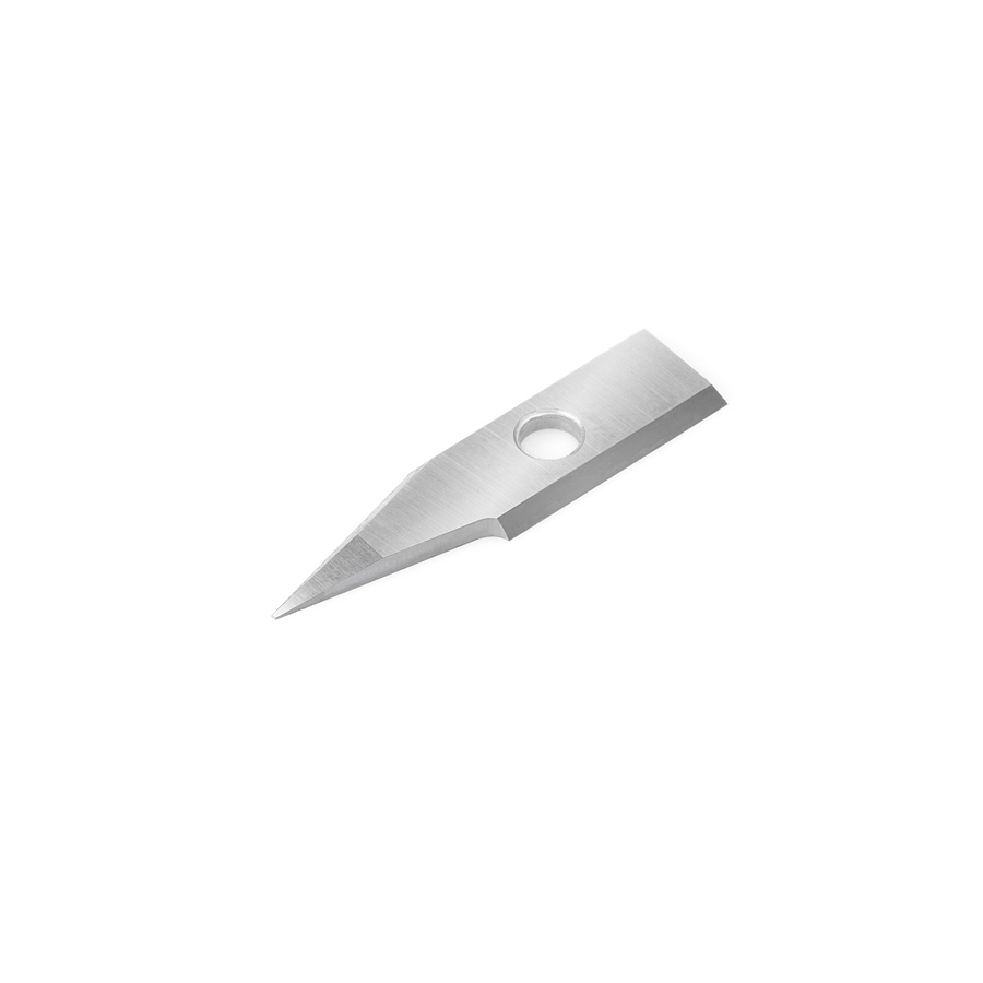 RCK-364 Solid Carbide Insert 30 Deg x 0.040 Inch V Tip Width Engraving Knife for In-Groove System