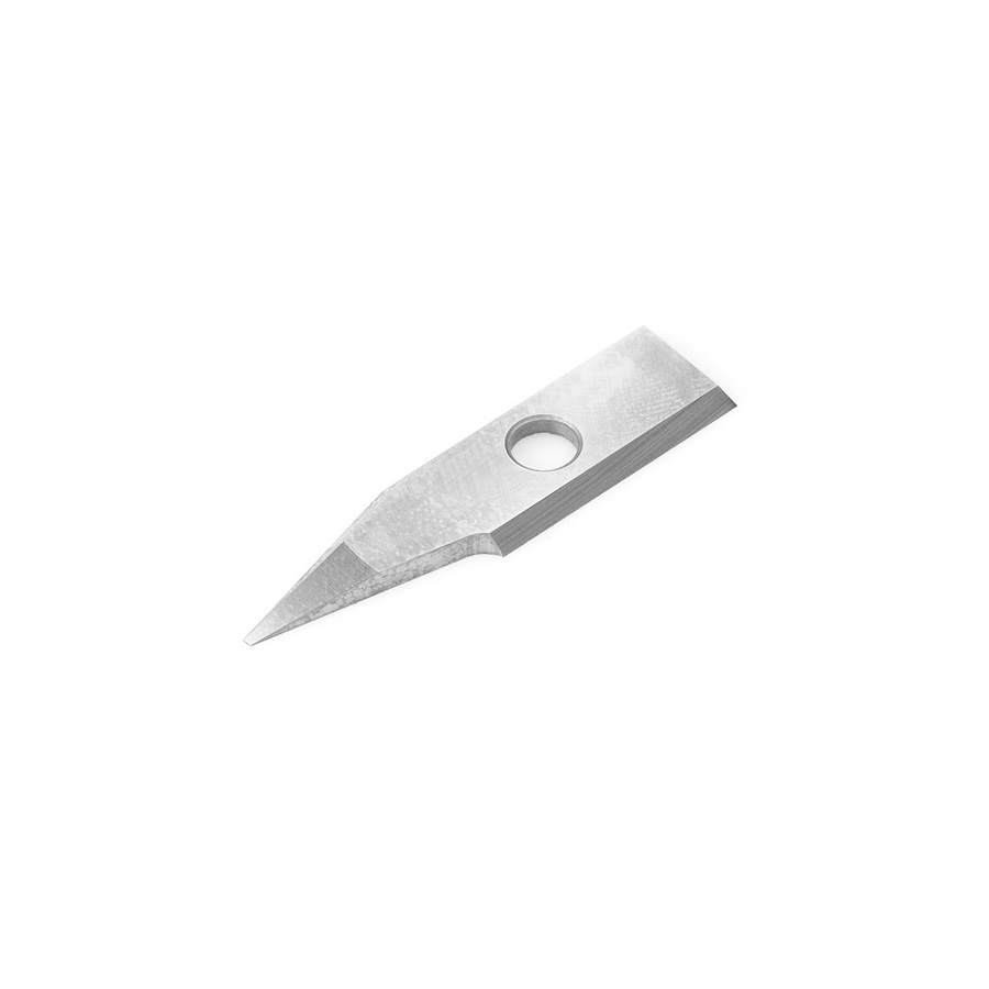 RCK-366 Solid Carbide Insert 30 Deg x 0.060 Inch V Tip Width Engraving Knife for In-Groove System