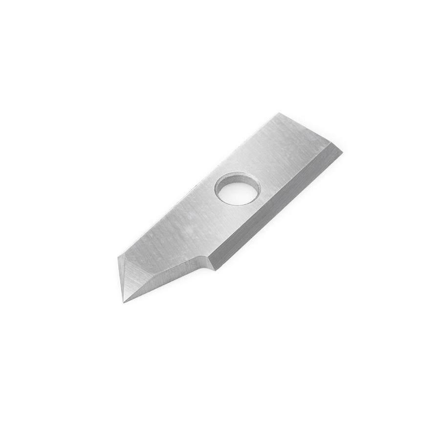 RCK-391 Solid Carbide Insert 90 Deg x 0.010 Inch V Tip Width Engraving Knife for In-Groove System