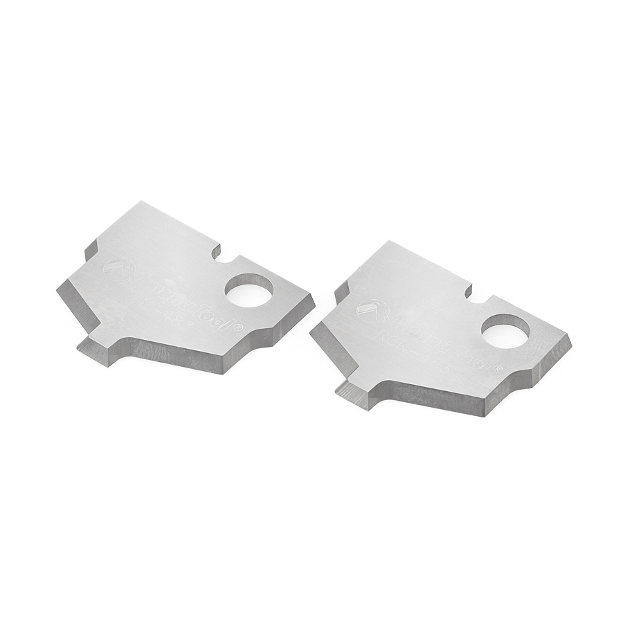 RCK-483 Pair of Solid Carbide Traditional MDF & Wood Plunge Form Insert Knives for RC-2483