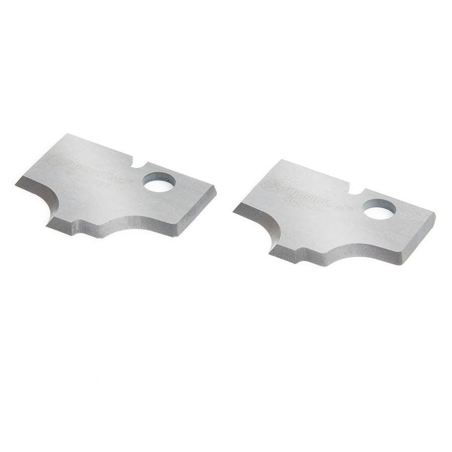 RCK-498 Pair of Solid Carbide Corner Rounding MDF & Wood Plunge Form Insert Knives for RC-2498