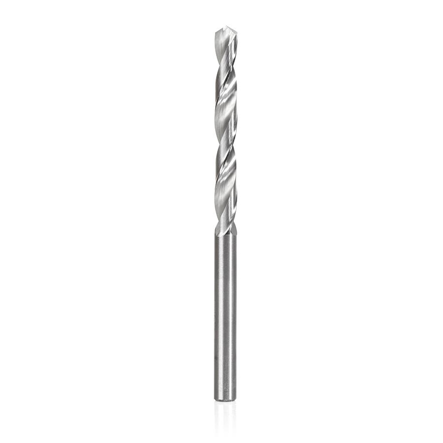SCFD-102 Solid Carbide CNC 4 Facet 118 Deg Drill Point 5/32 Dia x 1-3/8 x 5/32 Shank x 2-1/2 Inch Long