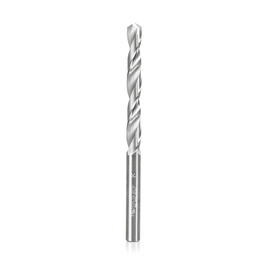 SCFD-104 Solid Carbide CNC 4 Facet 118 Deg Drill Point 3/16 Dia x 1-5/8 x 3/16 Shank x 2-3/4 Inch Long