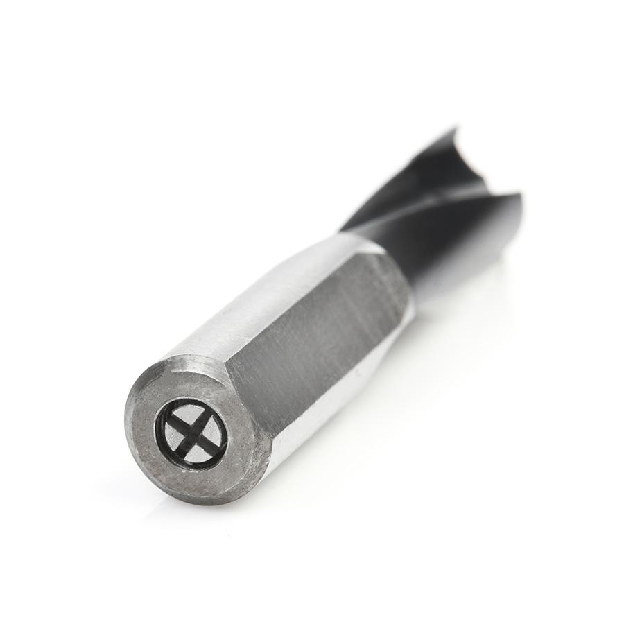 201010 Carbide Tipped Brad Point Boring Bit R/H 10mm Dia x 57mm Long x 10mm Shank
