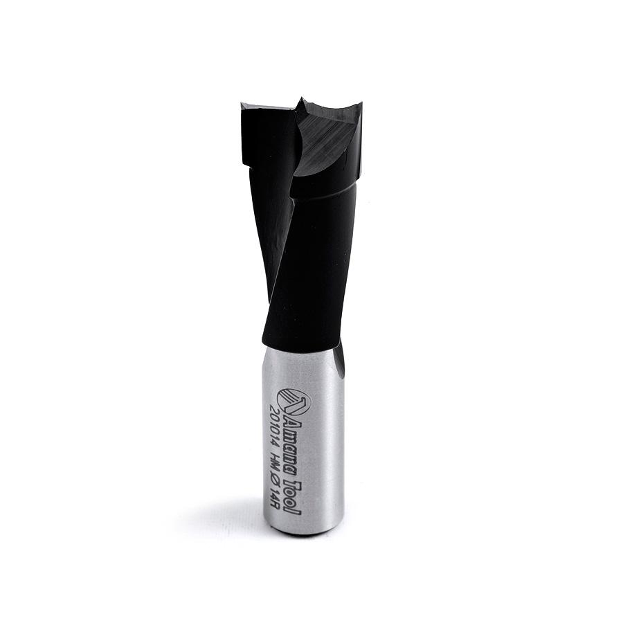 201014 Carbide Tipped Brad Point Boring Bit R/H 14mm Dia x 57mm Long x 10mm Shank