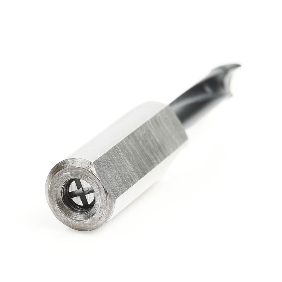 201055 Carbide Tipped Brad Point Boring Bit R/H 5.5mm Dia x 57mm Long x 10mm Shank