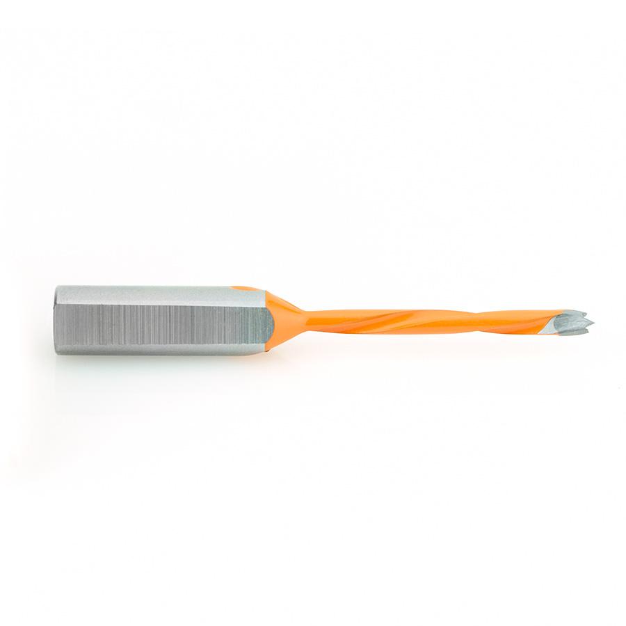 302004 Carbide Tipped Brad Point Boring Bit L/H 4mm Dia x 77mm Long x 10mm Shank