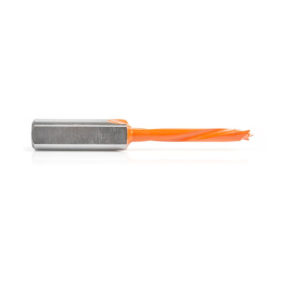 304005 Carbide Tipped Brad Point Boring Bit L/H 5mm Dia x 70mm Long x 10mm Shank