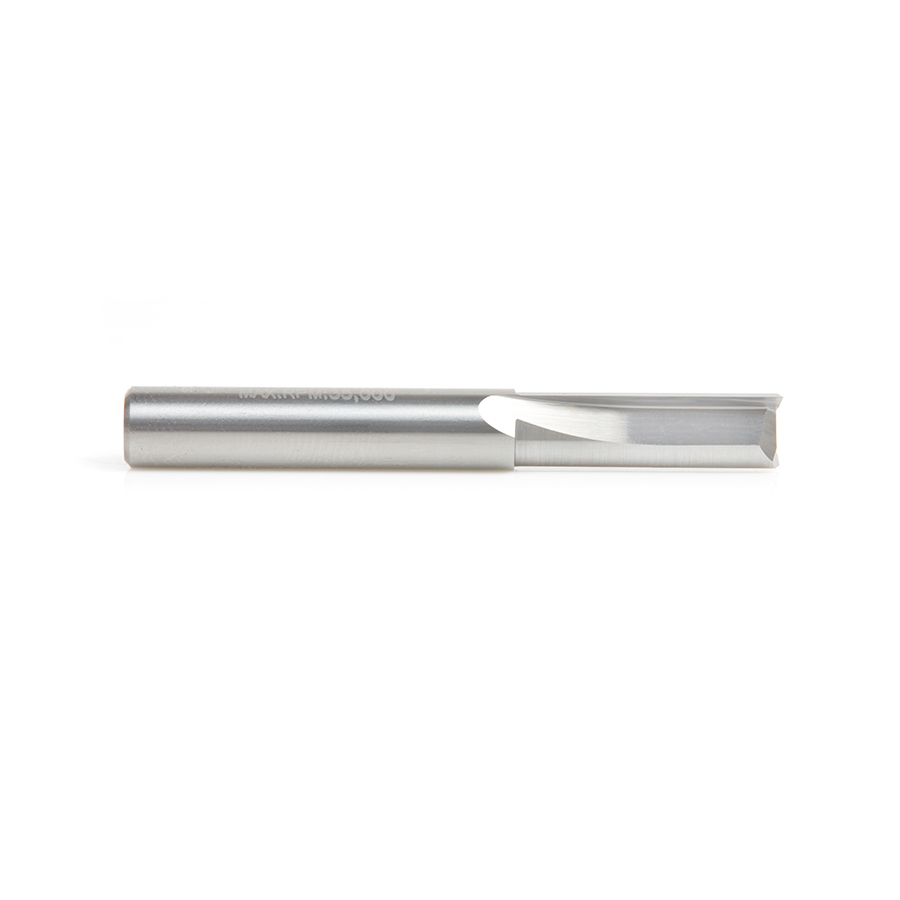 43607 Solid Carbide Double Straight Flute  Plastic Cutting 1/4 Dia x 3/4 x 1/4 Inch Shank