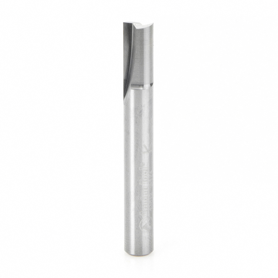 43812 Solid Carbide Straight Plunge 1/4 Dia x 1/2 x 1/4 Inch Shank Router Bit