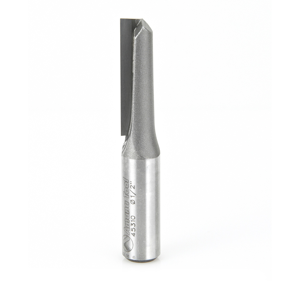 """Plunge Router Bit Straight Cutting Solid Carbide Tip 2-Flute 1//2/"""" x 2/"""""""