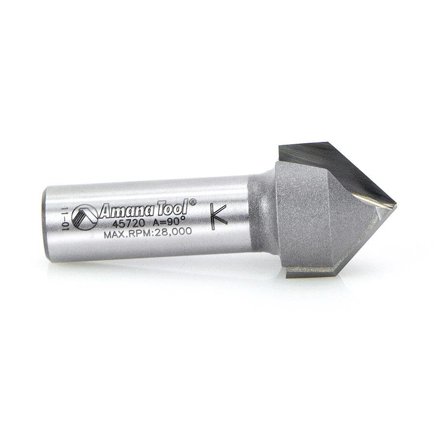 45720 Carbide Tipped V-Groove 90 Deg x 7/8 Dia x 3/4 x 1/2 Inch Shank