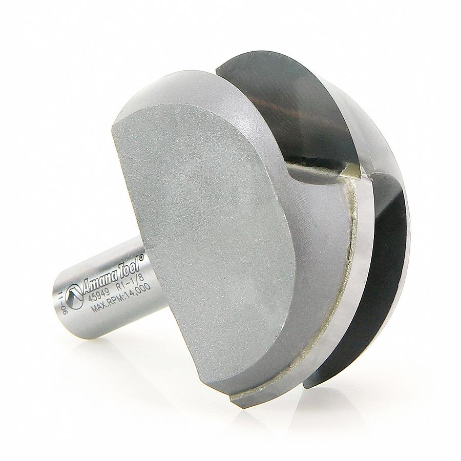 45949 Carbide Tipped Core Box 1-1/8 Radius x 2-1/4 Dia x 1-1/4 x 1/2 Inch Shank Extra Deep