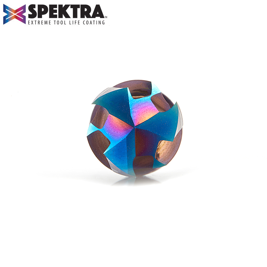 46020-K CNC Solid Carbide Spektra™ Extreme Tool Life Coated Mortise Compression Spiral 3/8 Dia x 1 Inch x 3/8 Shank