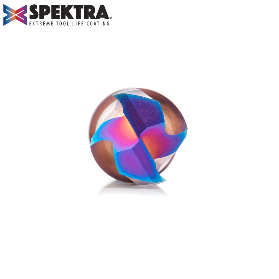 46023-K CNC Solid Carbide Spektra™ Extreme Tool Life Coated Mortise Compression Spiral 1/2 Dia x 1-3/8 Inch x 1/2 Shank