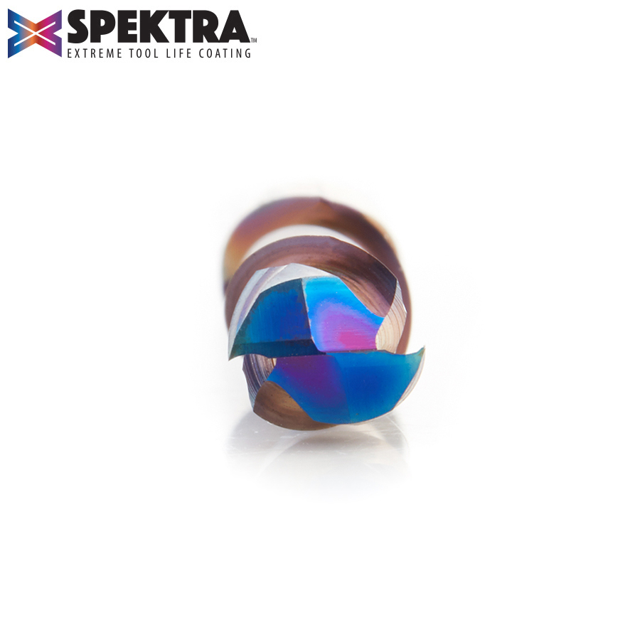 46025-K CNC Solid Carbide Spektra™ Extreme Tool Life Coated Mortise Compression Spiral 6mm Dia x 22mm x 6mm Shank