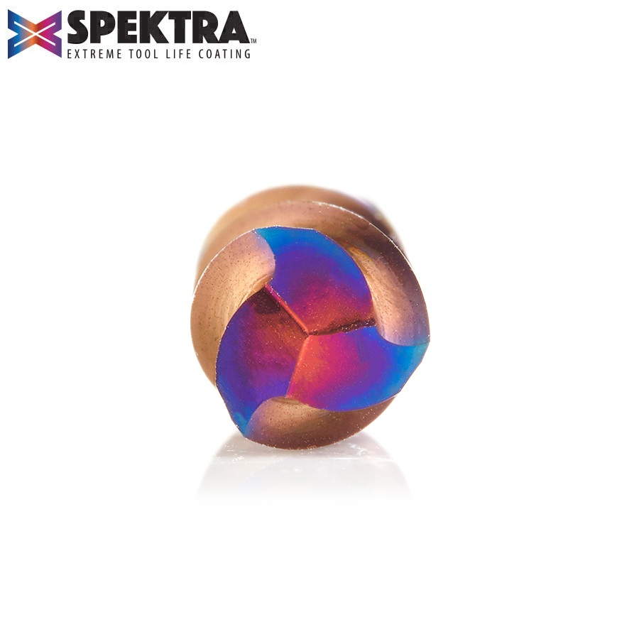 46052-K Solid Carbide Spektra™ Extreme Tool Life Coated Spiral Plunge 1/4 Dia x 3/4 x 1/4 Inch Shank Down-Cut, 3-Flute