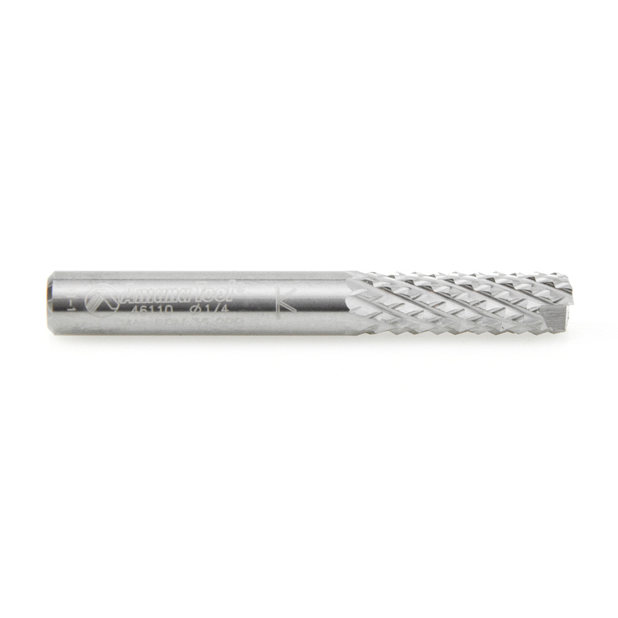 46110 End Mill Point Diamond Pattern Composite Cutting 1/4 Dia x 3/4 x 1/4 Inch Shank