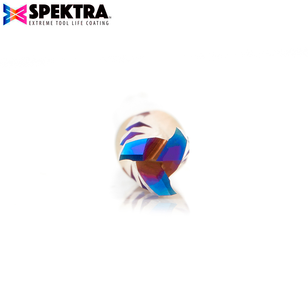46150-K Solid Carbide CNC Spektra™ Extreme Tool Life Coated Spiral Phenolic, Resin and Composite with Chipbreaker 1/4 Dia x 3/4 x 1/4 Shank x 2-1/2 Inch Long Slow Helix Up-Cut Router Bit