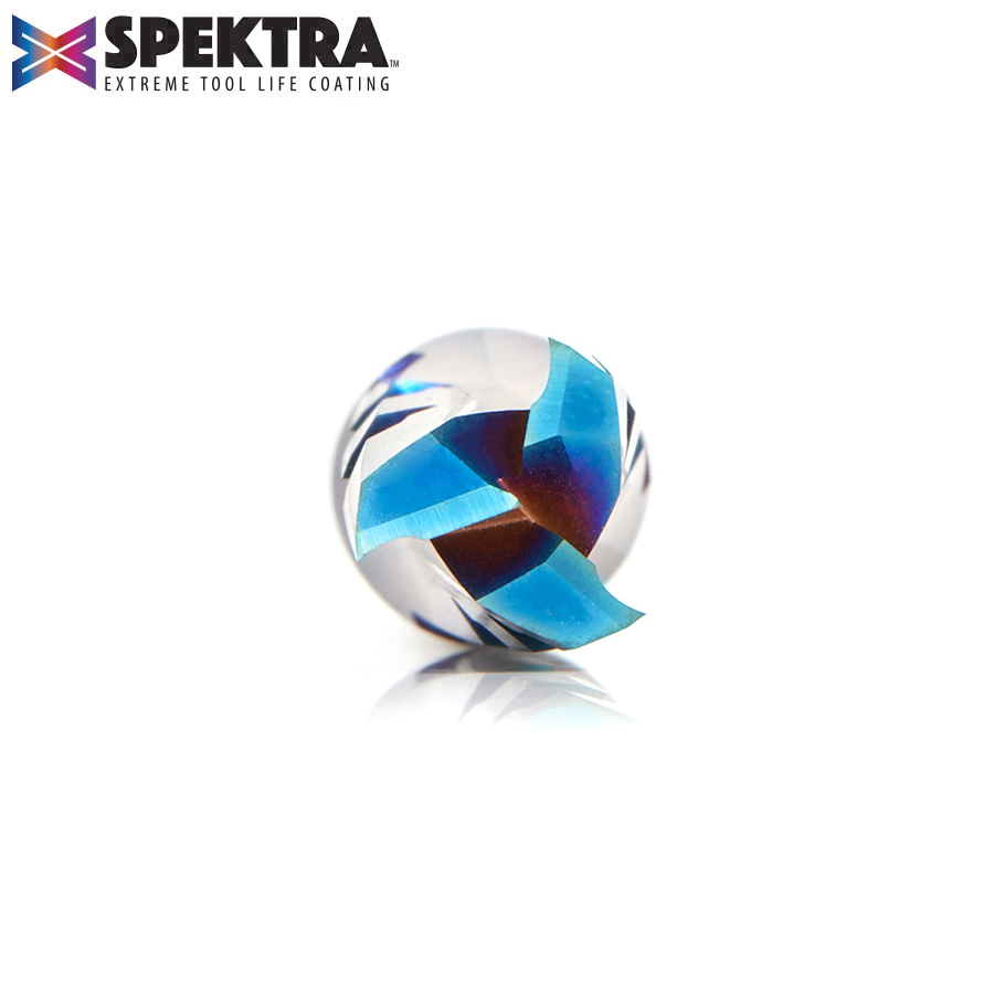 46151-K Solid Carbide CNC Spektra™ Extreme Tool Life Coated Spiral Phenolic, Resin and Composite with Chipbreaker 3/8 Dia x 1 x 3/8 Shank x 3 Inch Long Slow Helix Up-Cut Router Bit