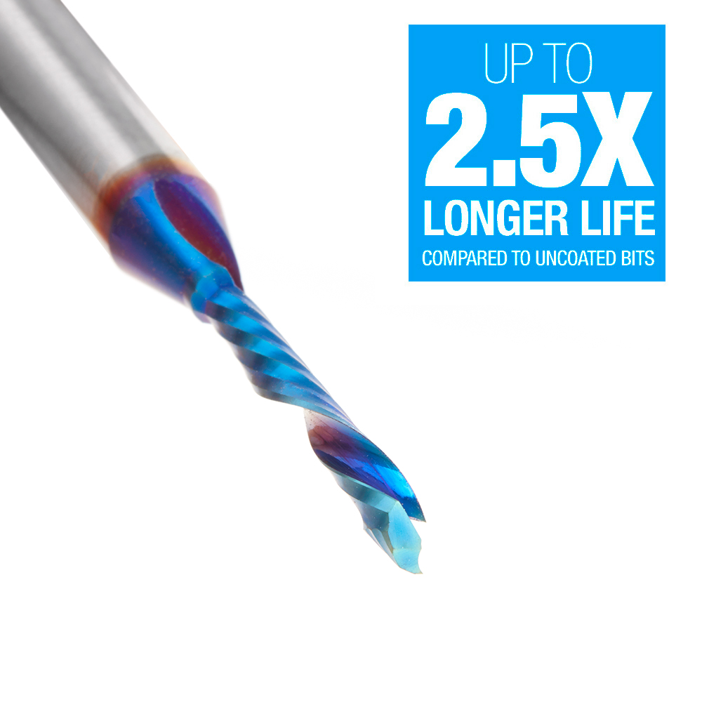 46155-K CNC Solid Carbide Spektra™ Extreme Tool Life Coated Compression Spiral