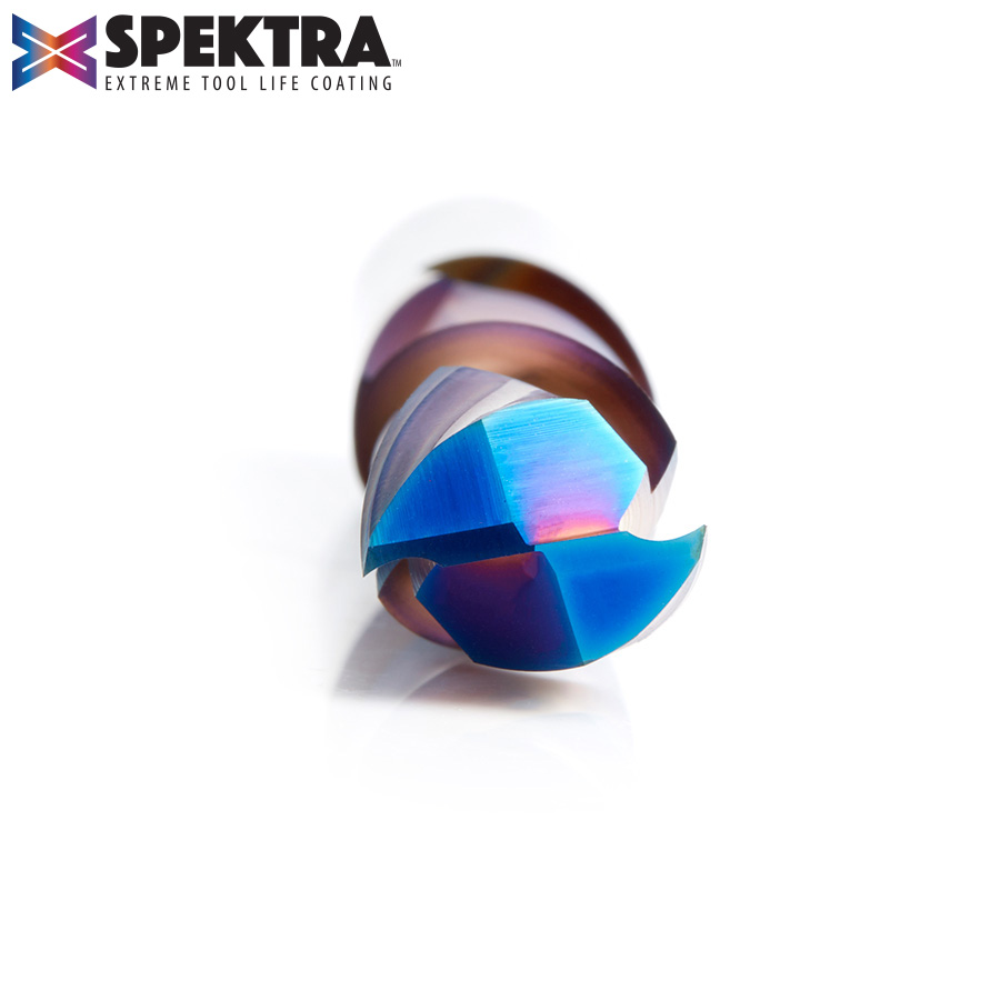 46190-K (Previous number 46165) CNC Solid Carbide Spektra™ Extreme Tool Life Coated Compression Spiral 1/2 Dia x 1-5/8 x 1/2 Inch Shank
