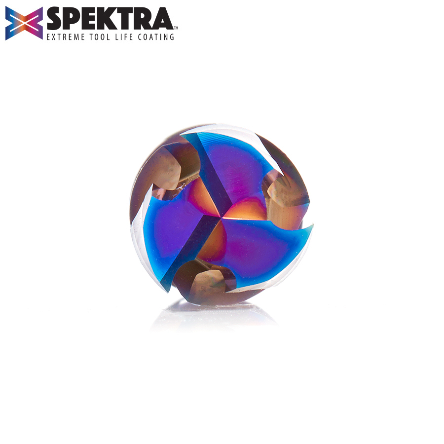 46012-K CNC Solid Carbide Spektra™ Extreme Tool Life Coated Compression Spiral 1/2 Dia x 1-1/4 x 1/2 Inch Shank