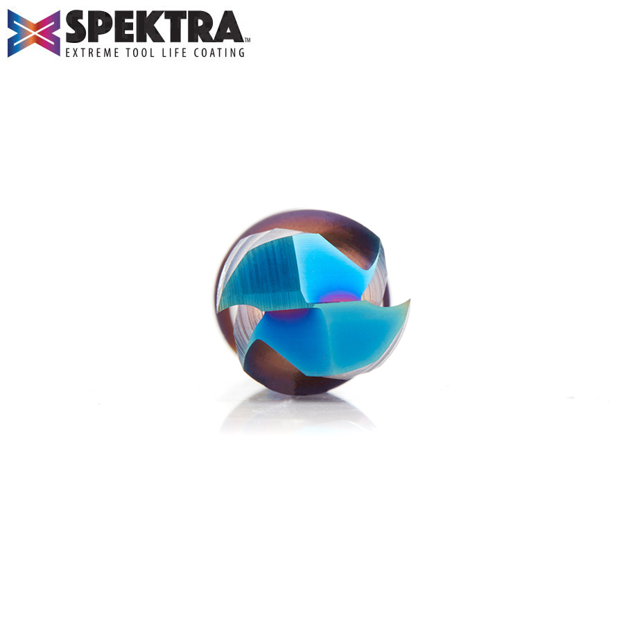 46182-K CNC Solid Carbide Spektra™ Extreme Tool Life Coated Compression Spiral 1/2 Dia x 1 x 1/2 Inch Shank