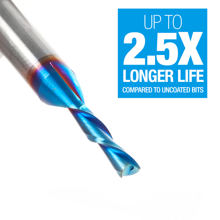 46200-K Solid Carbide Spektra™ Extreme Tool Life Coated Spiral Plunge 1/8 Dia x 1/2 x 1/4 Inch Shank