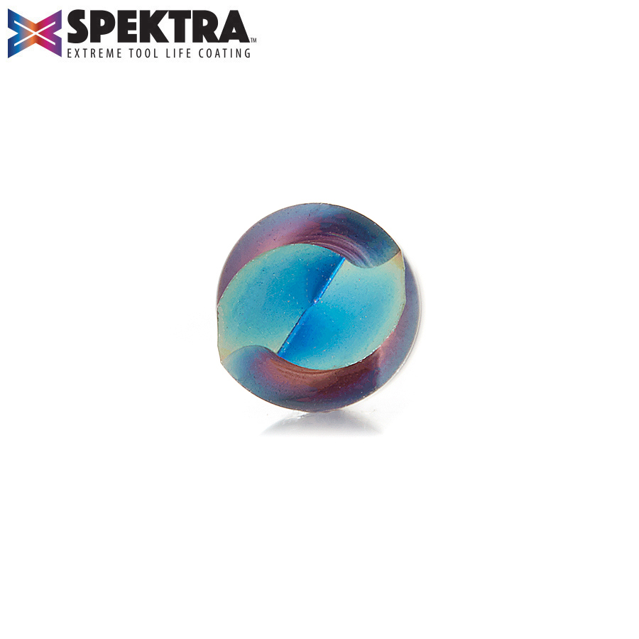 46202-K Solid Carbide Spektra™ Extreme Tool Life Coated Spiral Plunge 1/4 Dia x 3/4 x 1/4 Inch Shank