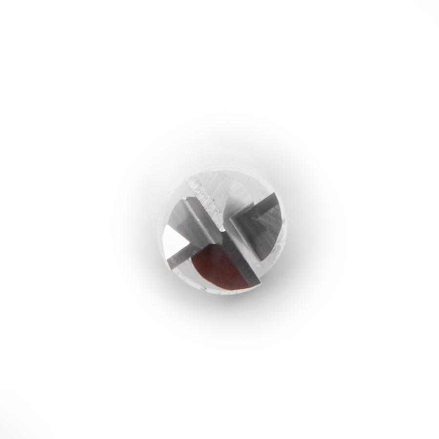46292-U CNC 2D and 3D Carving Flat Bottom x 0.10 Deg Angle x 1/8 Dia x 1-3/32 x 1/4 Shank x 2-1/2 Inch Long x 4 Flute Solid Carbide Router Bit