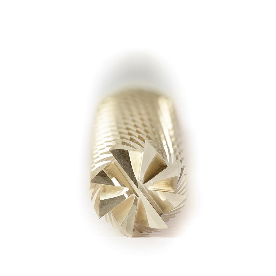 46306 CNC Solid Carbide ZrN Coated Honeycomb Cutting Hogger 1/4 Dia x 1-1/4 x 1/4 Shank x 4 Inch Long x 6-Flute