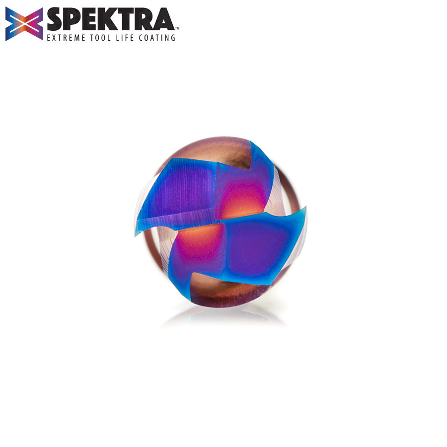 46354-K CNC Solid Carbide Spektra™ Extreme Tool Life Coated Mortise Compression Spiral 1/2 Dia x 1-1/4 Inch x 1/2 Shank