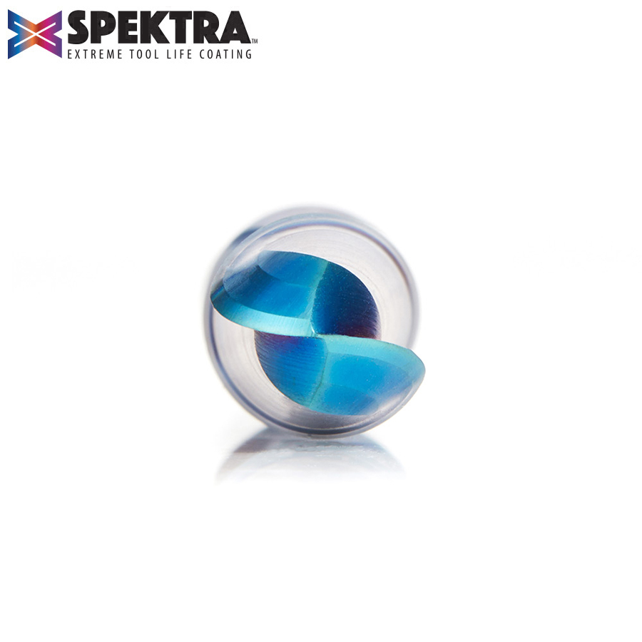 46378-K Solid Carbide Spektra™ Extreme Tool Life Coated Up-Cut Ball Nose Spiral 3/8 Dia x 1-1/4 Inch x 3/8 Shank Router Bit