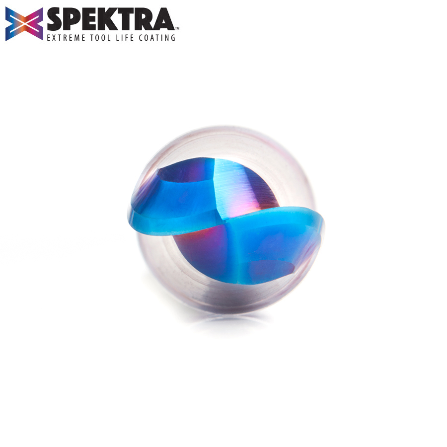 46384-K Solid Carbide Spektra™ Extreme Tool Life Coated Up-Cut Ball Nose Spiral 1/2 Dia x 2-1/8 Inch x 1/2 Shank Router Bit