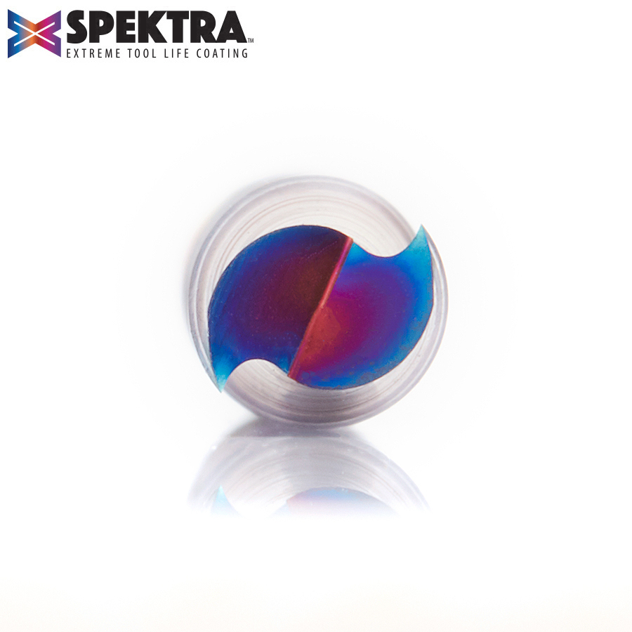 46399-K Solid Carbide Spektra™ Extreme Tool Life Coated Spiral Plunge 1/4 Dia x 1-3/8 x 1/4 Inch Shank Up-Cut