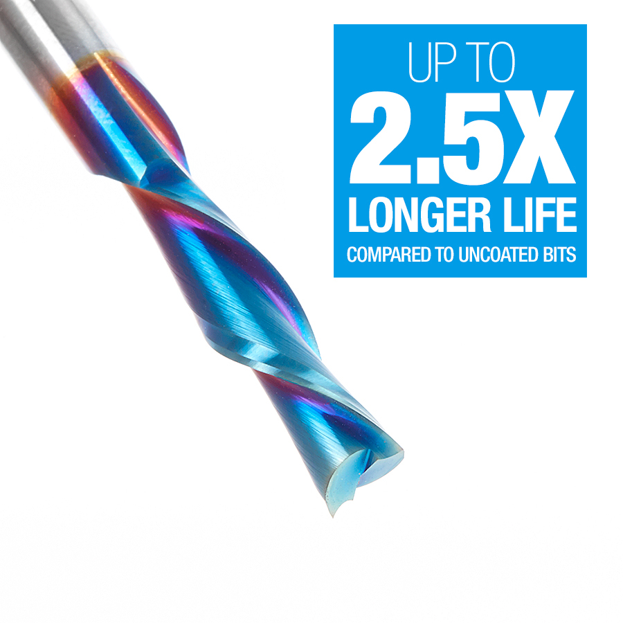46415-K Solid Carbide Spektra™ Extreme Tool Life Coated Spiral Plunge 1/4 Dia x 1 x 1/4 Inch Shank