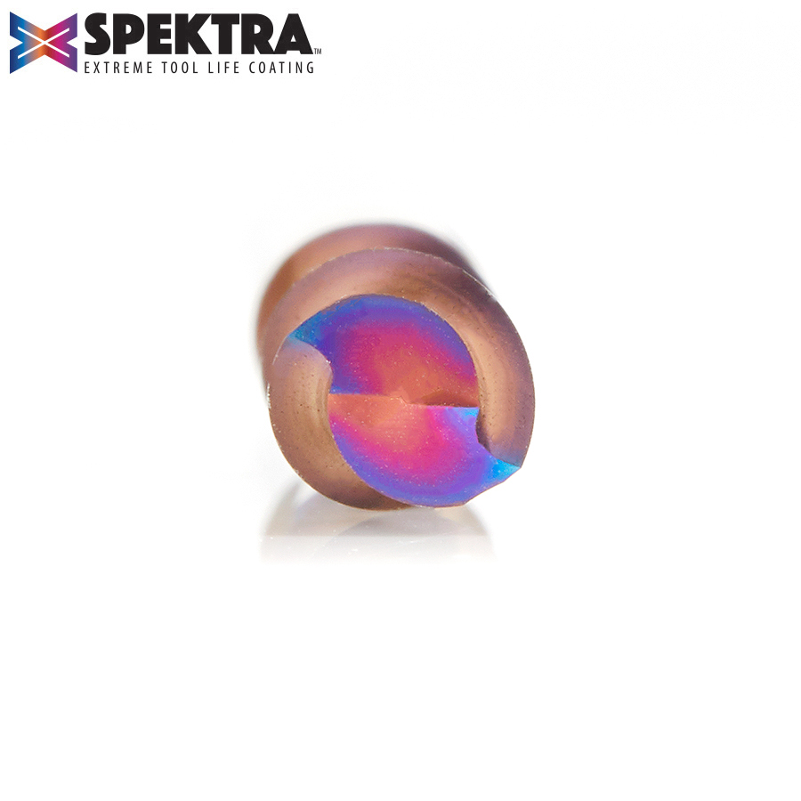 46416-K Solid Carbide Spektra™ Extreme Tool Life Coated Spiral Plunge 1/4 Dia x 1-1/8 x 1/4 Inch Shank