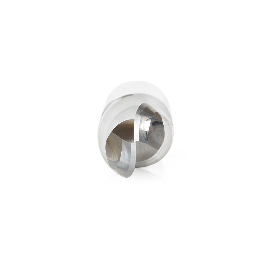 46458 Solid Carbide Up-Cut Spiral Ball Nose 6mm Radius x 12mm Dia x 29mm x 12mm Shank x 75mm Long x 2 Flute Router Bit