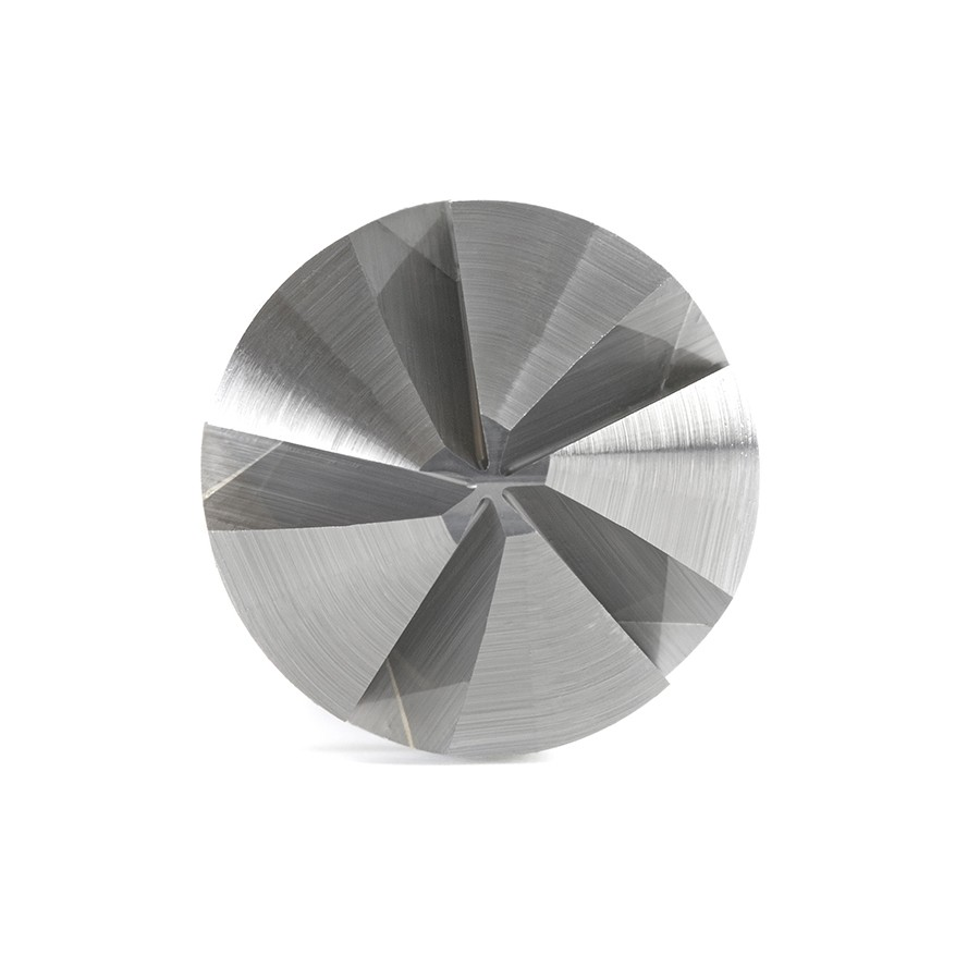 46468 Solid Carbide CNC 90 Degree Angle x 1/2 Dia x 5mm x 1/4 Shank x 1-9/16 Inch Long 5 Flute Countersink