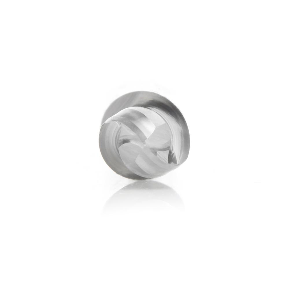 46475 Solid Carbide Down-Cut Ball Nose Spiral 1/4 Dia x 3/8 Inch x 1/4 Shank Router Bit
