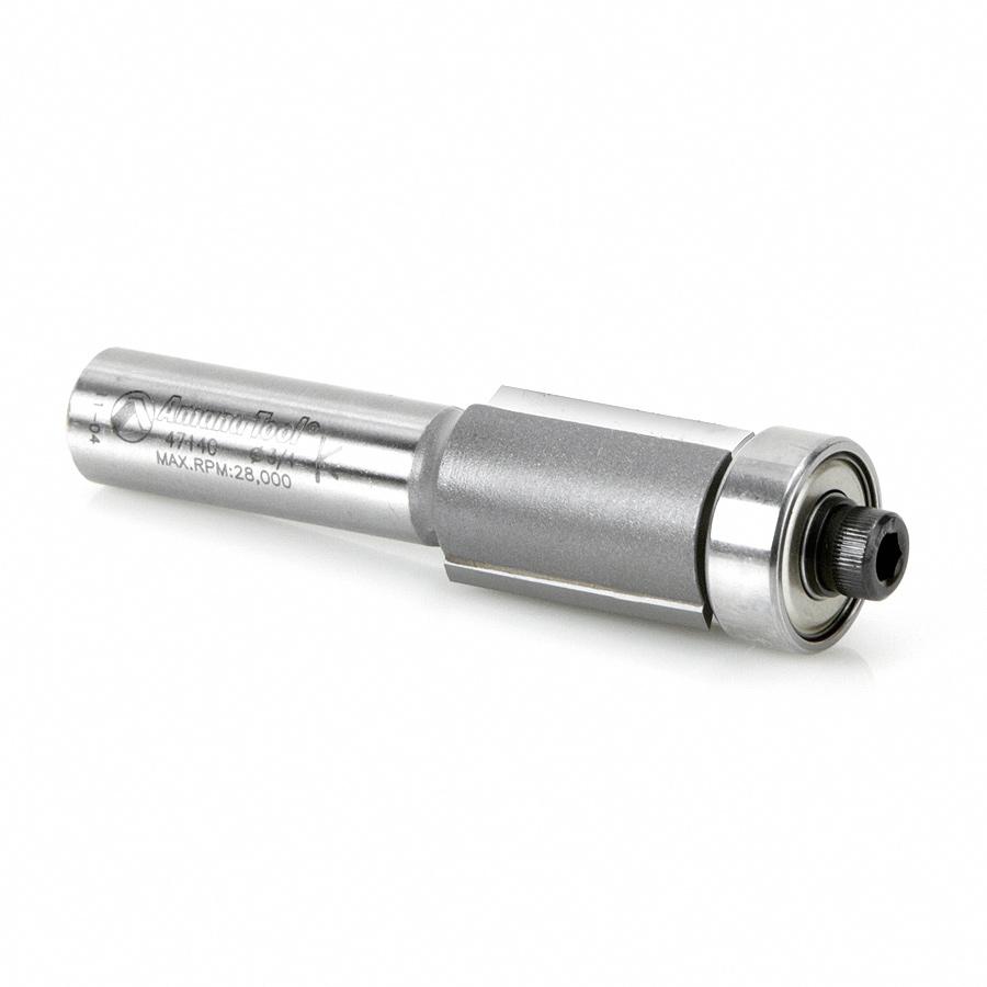 47140 Carbide Tipped Flush Trim 3/4 Dia x 1/2 x 1/2 Inch Shank