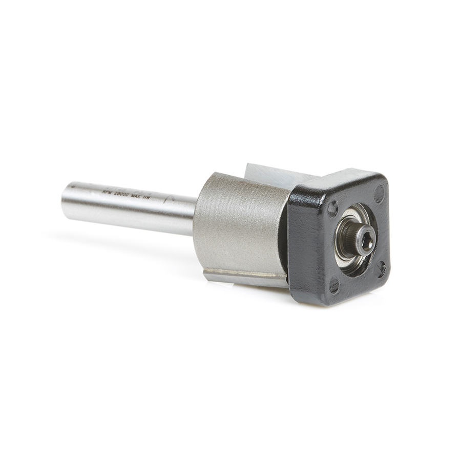 47148 Carbide Tipped Laminate Trimmer with Euro™ Square Bearing 3/4 Dia x 5/8 x 1/4 Inch Shank Router Bit
