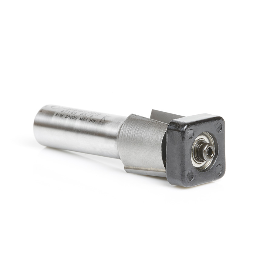 47149 Carbide Tipped Laminate Trimmer with Euro™ Square Bearing 3/4 Dia x 5/8 x 1/2 Inch Shank Router Bit
