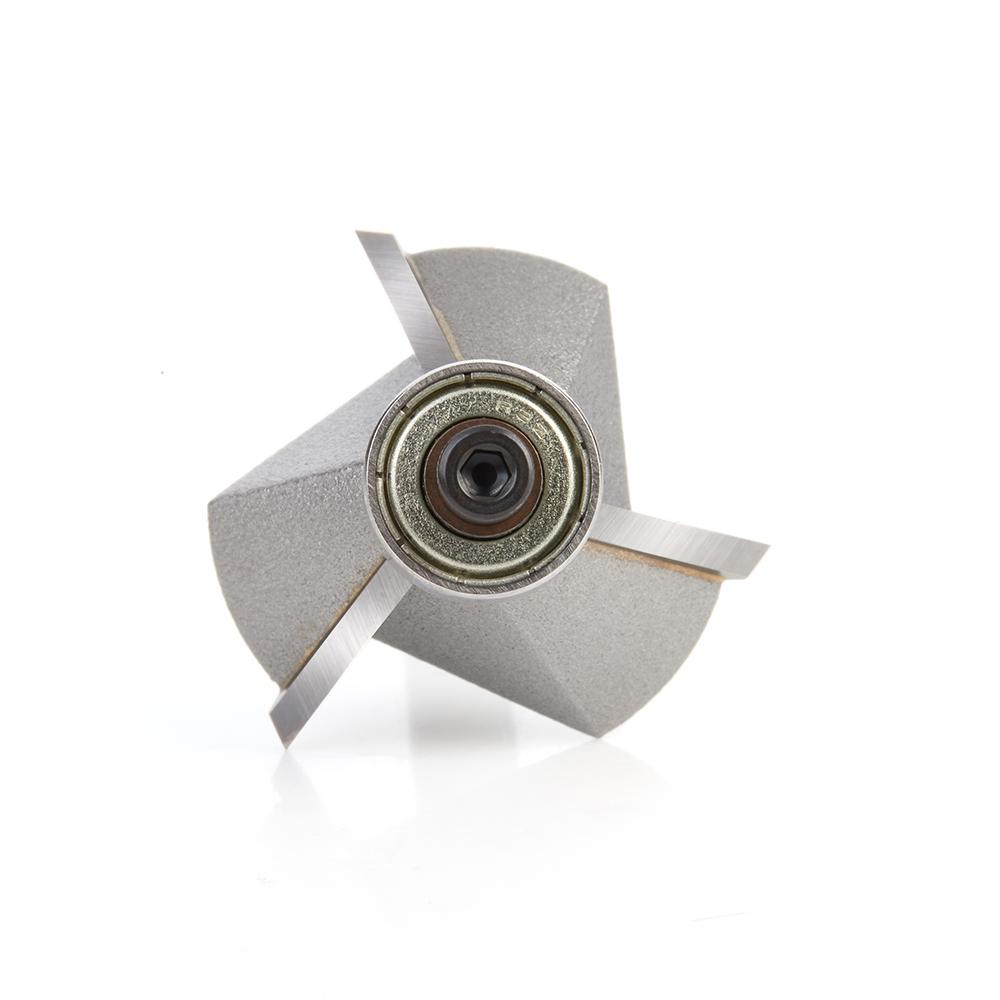 47306 Carbide Tipped Chamfer 45 Deg x 1-19/64 Dia x 7/16 x 1/4 Inch Shank with Ball Bearing 3-Flute