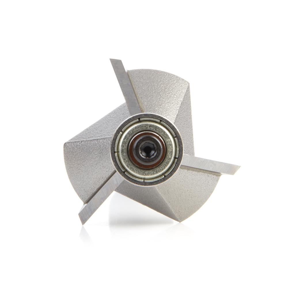47308 Carbide Tipped Chamfer 45 Deg x 1-19/64 Dia x 7/16 x 1/2 Inch Shank with Ball Bearing 3-Flute