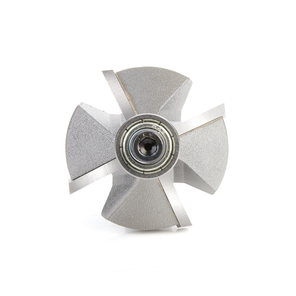 47309 Carbide Tipped Chamfer 45 Deg x 1-3/4 Dia x 3/4 x 1/2 Inch Shank with Ball Bearing 4-Flute