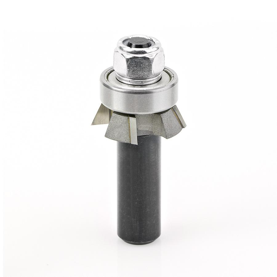 47410 Carbide Tipped 4 Wing Single Bevel Trim Cutter Assembly 25 Deg x 1-1/16 Dia x 1/4 x 1/2 Inch Shank