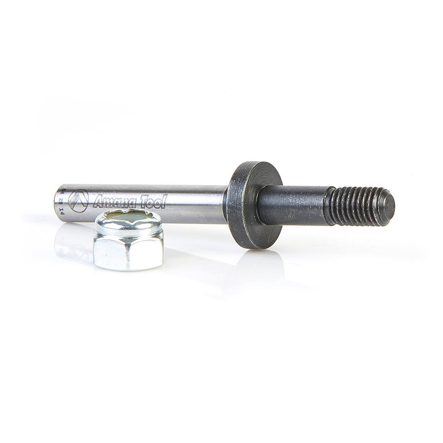 47610 Router Arbor with Hex Nuts and Washers 1/4-28 NF Dia x 7/8 Height x 1/4 Inch Shank
